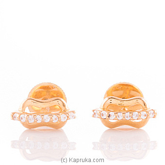 22K Gold Ear Stud Set With 16(c/z) Rounds at Kapruka Online for specialGifts