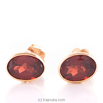 Vogue 18K Gold Ear Stud Set With 2 Color Stone at Kapruka Online