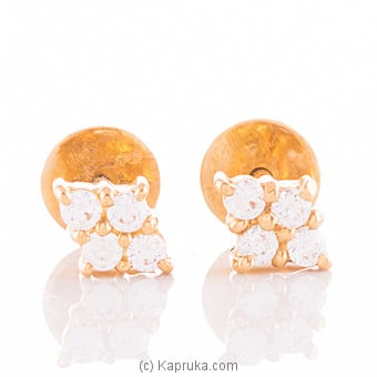 22K Gold Ear Stud Set With 8 C/z at Kapruka Online for specialGifts
