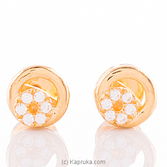 22K Gold Ear Stud Set With 12 C/z at Kapruka Online for specialGifts