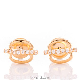 22K Ear Stud Set With 16 C/z Round at Kapruka Online for specialGifts