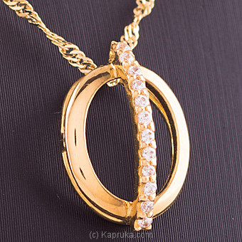 22K Gold Pendant Set With 12 (c/z) Round at Kapruka Online for specialGifts
