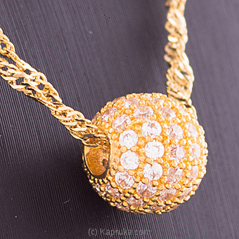 Vogue 22K Gold Pendant Set With 55(c/z) Rounds at Kapruka Online for specialGifts