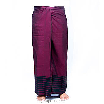 Purple And Black Handloom Sarong at Kapruka Online for specialGifts