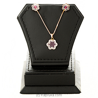 Pink Gold Pendant With Earing Set By DIAMOND DREAMS at Kapruka Online forspecialGifts