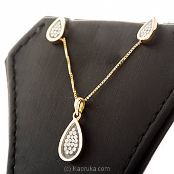 18kt Yellow Gold Pendant With Earing Set By DIAMOND DREAMS at Kapruka Online forspecialGifts