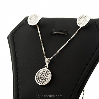 18kt White Gold Pendant With Earing Set By DIAMOND DREAMS at Kapruka Online forspecialGifts