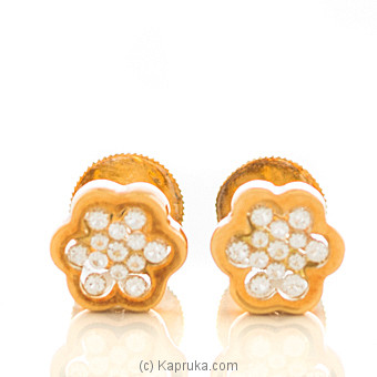 18kt Yellow Gold Earing Set By DIAMOND DREAMS at Kapruka Online forspecialGifts