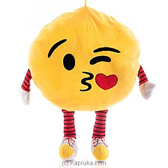Throwing A Kiss With Winking Eye Emoji Cushion With Arms And Legs at Kapruka Online for specialGifts