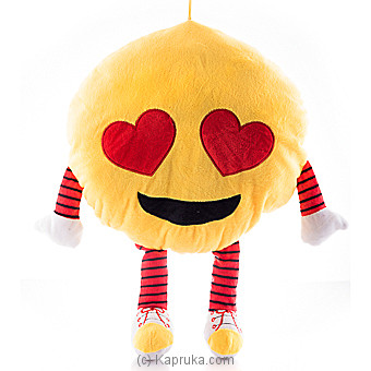 Smiling Face With Heart-Shaped Eyes Emoji Cushion With Arms And Legs By Huggables at Kapruka Online forspecialGifts