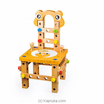 Wooden Variety Tool Chair (Wooden Assembly Toy) at Kapruka Online for specialGifts
