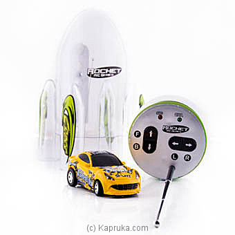 Plastic Rocket Packing Yellow Mini Racing Car at Kapruka Online for specialGifts