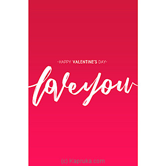Valentine Greeting Card at Kapruka Online for specialGifts