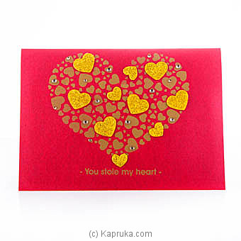 Valentine Handmade Greeting Card  at Kapruka Online for specialGifts