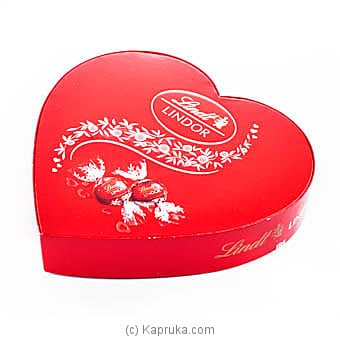 Lindt Lindor Chocolate Truffles Heart Box - 160g at Kapruka Online for specialGifts