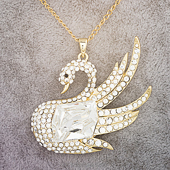Crystal Swan Necklace  at Kapruka Online for specialGifts