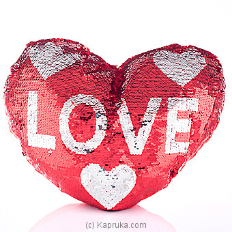 Fall In Love Glittery Pillow at Kapruka Online for specialGifts