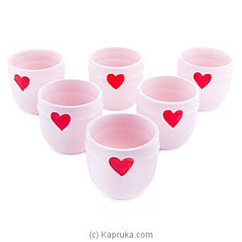 Candy Love Ceramic Dessert Cup Set at Kapruka Online for specialGifts