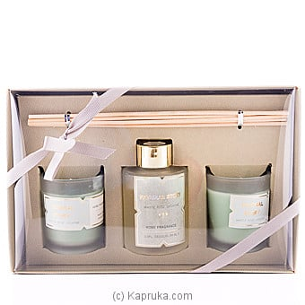 Sense Of White Rose Jasmine Fragrance Candle Gift Set at Kapruka Online for specialGifts