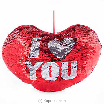 I Love You Glittery Pillow at Kapruka Online for specialGifts