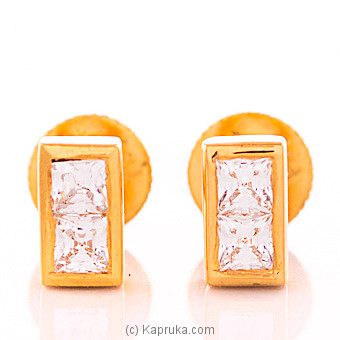 22kt Gold E`stud Set With Cubic Zirconia (E961/1) at Kapruka Online for specialGifts