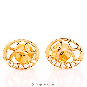 22kt Gold E`stud Set With Cubic Zirconia (E779/1) at Kapruka Online for specialGifts