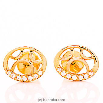 22kt Gold E`stud Set With Cubic Zirconia (E779/1) at Kapruka Online
