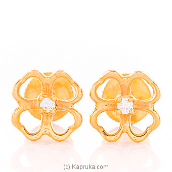 22kt Gold E`stud Set With Cubic Zirconia (E1024/1) at Kapruka Online for specialGifts