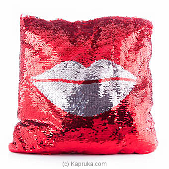 Kiss Me Glittery Pillow at Kapruka Online for specialGifts