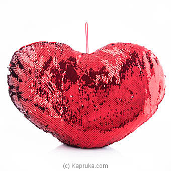Heart Shaped Glittery Pillow at Kapruka Online for specialGifts
