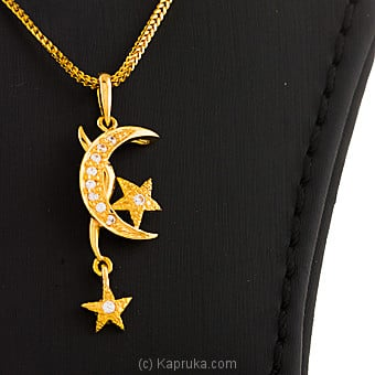 22KT Y/G Pendant Studded With Swarovski Zirconia-PE0001135 at Kapruka Online