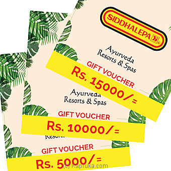 Siddahalepa Ayurveda Resorts and Spas Gift Voucher- at Kapruka Online for specialGifts