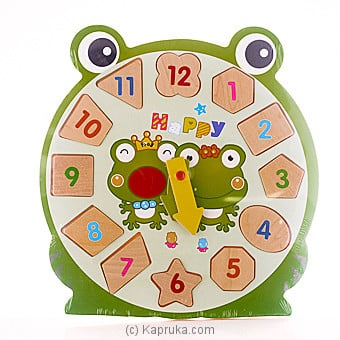 Kids Learning Wooden Puzzle Clock - Frog at Kapruka Online for specialGifts