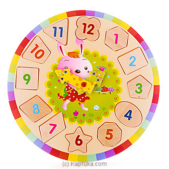 Kids Learning Wooden Puzzle Clock - Rabbit at Kapruka Online for specialGifts