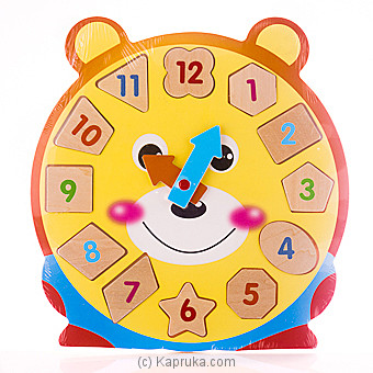 Kids Learning Wooden Puzzle Clock - Teddy at Kapruka Online for specialGifts
