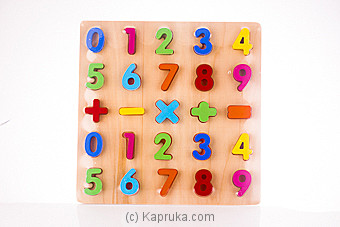 Colorful Wooden Math Arithmetic Number Puzzles at Kapruka Online for specialGifts
