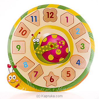 Kids Learning Wooden Puzzle Clock - Snail at Kapruka Online for specialGifts