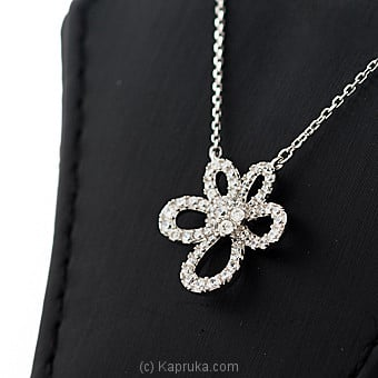 Stone Flower Pendant With Necklace at Kapruka Online