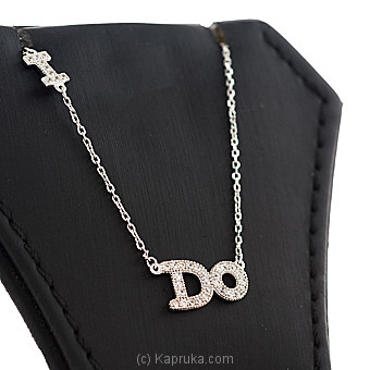 Stone Silver Letter Pendant With Necklace at Kapruka Online for specialGifts
