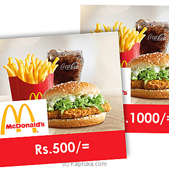 McDonalds Gift Vouchers at Kapruka Online for specialGifts