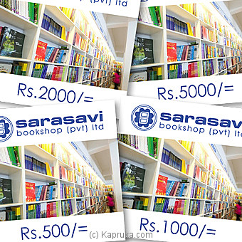 Sarasavi Bookshop Gift Vouchers at Kapruka Online for specialGifts
