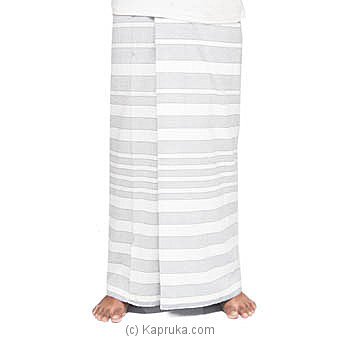 White And Ash Handloom Sarongat Kapruka Online forspecialGifts