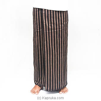 Gold With Black Stripes Handloom Sarongat Kapruka Online forspecialGifts