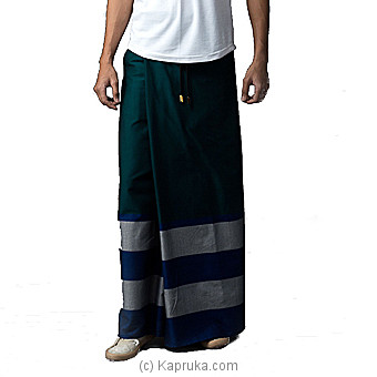 Cotton Emerald Base Rugby Sarong-SAURU16ELS1 at Kapruka Online for specialGifts