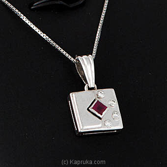 18KT White Gold Pendant-SR10-18K1123 at Kapruka Online