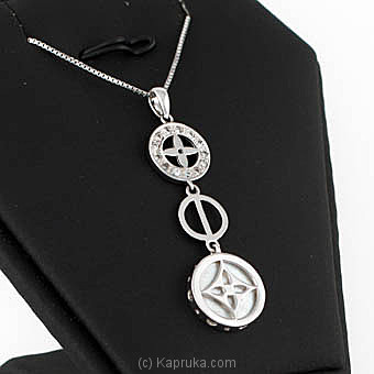 Swarna Mahal  18KT White Gold Pendant-07CL14-18K531 By SWARNA MAHAL at Kapruka Online forspecialGifts