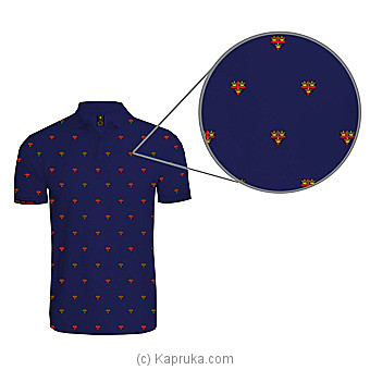 Tinity College All Over Printed Polo Shirt-Blue at Kapruka Online for specialGifts