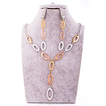 Crystal Necklace & Earing Set at Kapruka Online for specialGifts