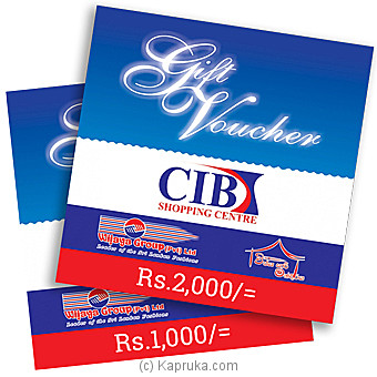 CIB Gift Voucher at Kapruka Online for specialGifts