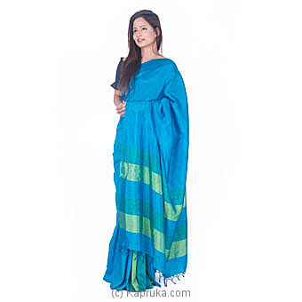 Peacock Blue And Green Shades Rayon Saree at Kapruka Online for specialGifts